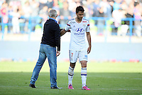 Patrice GARANDE / Clement GRENIER - 09.05.2015 -  Caen / Lyon  - 36eme journee de Ligue 1<br />