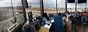 Interior of the Air traffic Control Tower, Israel, Ben-Gurion international Airport