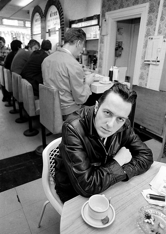 Joe Strummer 1988 in a Westbourne Grove Cafe for Q magazine