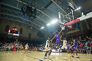 Archbishop Wood guard Marcus Randolph #2 drives to the basket as Roman Catholic forward Jalen Duren #23 defends in the second quarter of the Roman Catholic vs Archbishop Wood semifinal Philadelphia Catholic League playoff basketball game  Wednesday, February 19, 2020 at The Palestra in Philadelphia, Pennsylvania. (Photo by William Thomas Cain/CAIN IMAGES for the Intelligencer)