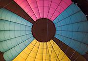 Closeup of inside of hot air balloon<br />