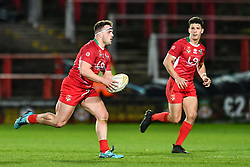11th November 2018 , Racecourse Ground,  Wrexham, Wales ;  Rugby League World Cup Qualifier,Wales v Ireland ; Connor Davies of Wales in action<br /> <br /> <br /> Credit:   Craig Thomas/Replay Images