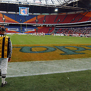 American Football, Amsterdam Admirals - Cologne Centurions, referee, scheidsrechter, veld, arena, overzicht