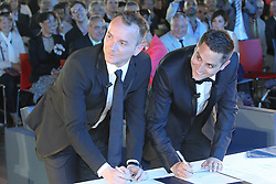 59728755  <br /> Bruno Boileau and and Vincent Autin during their marriage. France's first official gay marriage, in the city hall in Montpellier, France, May 29, 2013 .UK ONLY