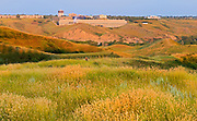 Univeristy of Lethbridge nestled in coulee surrounded by prairie grasses<br /> Lethbridge<br /> Alberta<br /> Canada