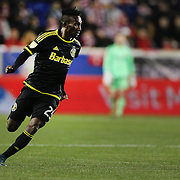 Harrison Afful, Columbus Crew SC, in action during the New York Red Bulls Vs Columbus Crew SC, Major League Soccer Eastern Conference Championship, second leg, at Red Bull Arena, Harrison, New Jersey. USA. 29th November 2015. Photo Tim Clayton