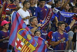 Fans supporting their team before the start of the ''El Clasico Miami'' match, Barcelona against Real Madrid, as part of the International Champions Cup on Saturday, July 29, 2017, at Hard Rock Stadium in Miami Gardens, FL, USA. Photo by David Santiago/El Nuevo Herald/TNS/ABACAPRESS.COM