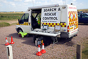 Search and rescue vehicle in training exercise, Bawdsey, Suffolk, England