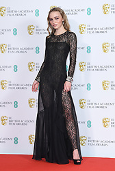 Lily-Rose Depp at the 73rd British Academy Film Awards held at the Royal Albert Hall, London.. Photo credit should read: Doug Peters/EMPICS