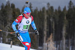 February 8, 2019 - Calgary, Alberta, Canada - Eduard Latypov (RUS) is competing during Men's Relay of 7 BMW IBU World Cup Biathlon 2018-2019. Canmore, Canada, 08.02.2019 (Credit Image: © Russian Look via ZUMA Wire)