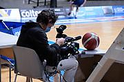 Eurosport, Rai Sport TV, TV, <br /> Acqua S.Bernardo Cantù - Virtus Roma<br /> Legabasket Serie A UnipolSAI 2020/2021<br /> Desio, 22/11/2020<br /> Foto Ciamillo-Castoria/ Claudio Degaspari