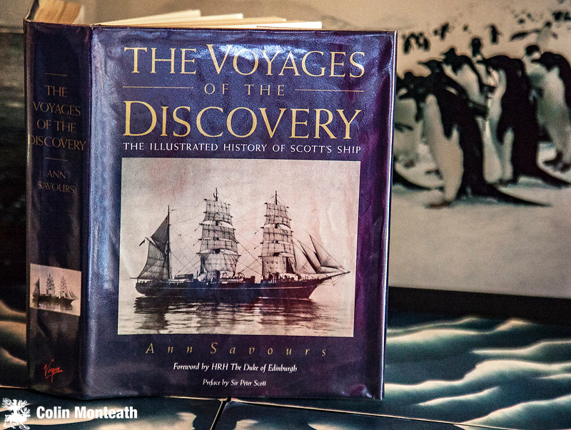 THE VOYAGES OF THE DISCOVERY - The Illustrated history of Scott's ship - Ann Savours, Virgin Publishing, London, 1st edn., 1992, VG+ hardbound edn., preface by Sir Peter Scott, A remarkable piece of historical research by one of the UK's top polar historians, great B&W and colour illustrations, $NZ75