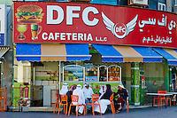 Emirats Arabes Unis, Dubai, quartier de Deira, cafetria// United Arab Emirates, Dubai, Deira neighbourhood, cafeteria