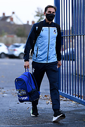 Edward Upson of Bristol Rovers arrives at Memorial Stadium prior to kick off - Mandatory by-line: Ryan Hiscott/JMP - 27/10/2020 - FOOTBALL - Memorial Stadium - Bristol, England - Bristol Rovers v Hull City - Sky Bet League One