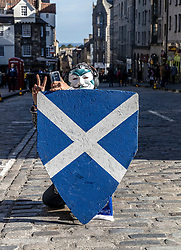 Independence March walks along the Royal Mile in Edinburgh