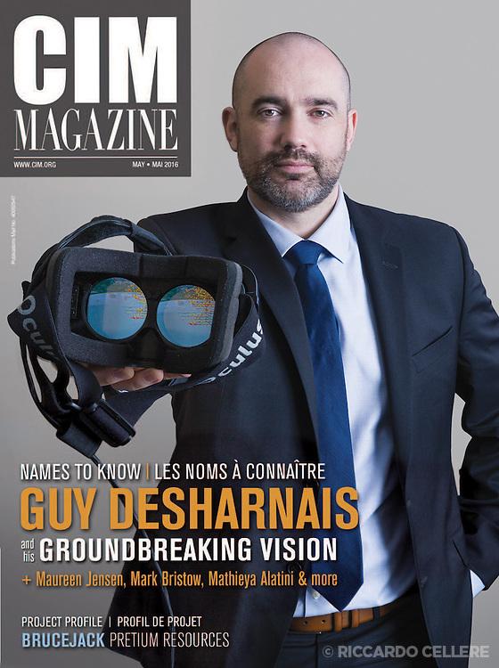Corporate photography. Portrait of Guy Desharnais for CIM magazine, 2016.
