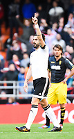 Valencia's  Alvaro Negredo celebrating his goal  during Spanish King's Cup match. January 6, 2016. (ALTERPHOTOS/Javier Comos)