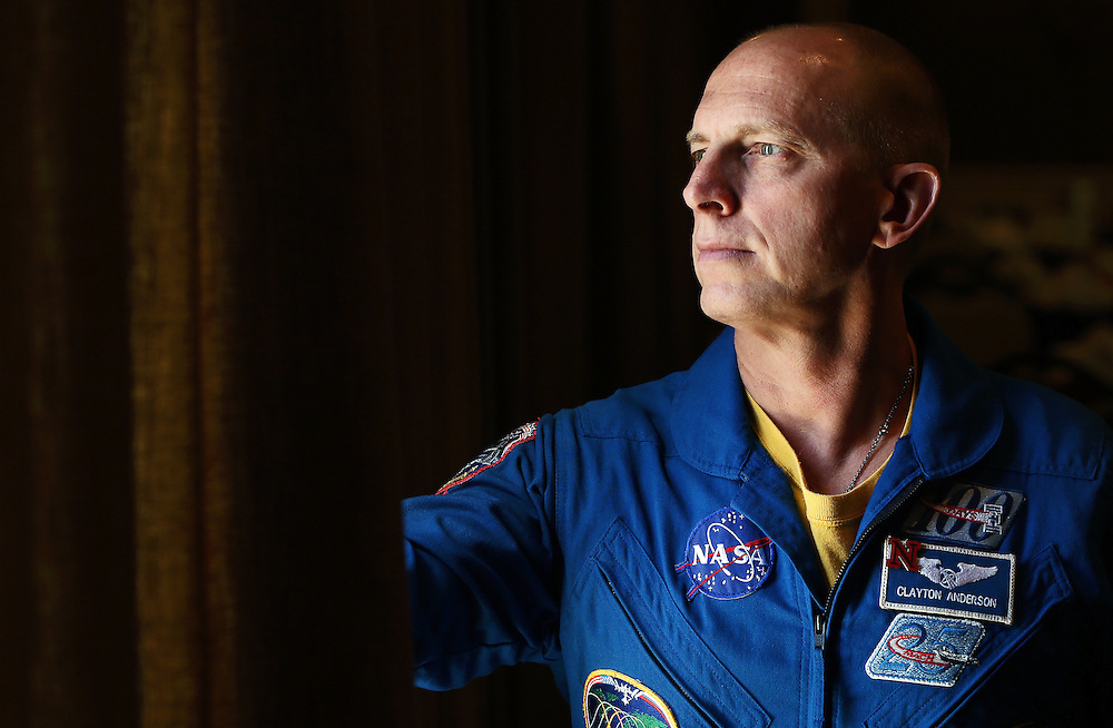 Astronaut Clayton Anderson poses for a portrait before giving a keynote speech at the annual Grand Island Area Chamber of Commerce meeting Thursday afternoon at the Riverside Golf Club in Grand Island. (Independent/Matt Dixon)