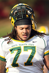 17 November 2012:  Billy Turner during an NCAA Missouri Valley Football Conference football game between the North Dakota State Bison and the Illinois State Redbirds at Hancock Stadium in Normal IL