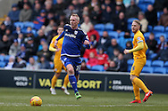 Lex Immers of Cardiff city © makes a break. Skybet football league championship match, Cardiff city v Preston NE at the Cardiff city stadium in Cardiff, South Wales on Saturday 27th Feb 2016.<br /> pic by  Andrew Orchard, Andrew Orchard sports photography.