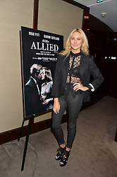 STEPHANIE PRATT at a screening of Paramount Pictures 'Allied' hosted by Rosie Nixon of Hello! Magazine at The Bulgari Hotel, 171 Knightsbridge, London on 23rd November 2016.