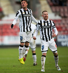 Dunfermline's Joe Cardle celebrates after scoring their second goal. <br /> Dunfermline 3 v 2 Ayr United, Scottish League One played at East End Park, 13/2/2016.