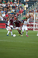 August 4, 2012: Colorado Rapids midfielder Joseph Nane (5) brings the ball through traffic in the first half against Real Salt Lake at Dick's Sporting Goods Park in Denver, Colorado.