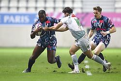 January 11, 2019 - Paris, France - Lester Etien (Stade Français) vs Antoine Hastoy  (Credit Image: © Panoramic via ZUMA Press)