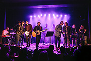 The Decemberists and a bunch of other people performing at Help The Hoople, a benefit for Scott McCaughey, at the Wonder Ballroom in Portland, OR - Jan 6, 2018. Photo by Jason Quigley.