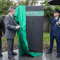 Ex-veteran, Matthew Carroll unveiling the new memorial