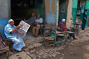A tea stall along the winding lanes of the suq in Old Cairo, around the famed Khan al Khalili.