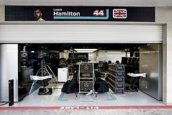 October 25, 2018 - Mexico-City, Mexico - Motorsports: FIA Formula One World Championship 2018, Grand Prix of Mexico, .Garage of Mercedes AMG Petronas Motorsport  (Credit Image: © Hoch Zwei via ZUMA Wire)