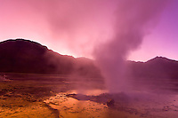 Sunrise at the El Tatio Geyser Field, Atacama Desert, Chile