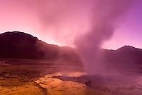 Sunrise at the El Tatio Geyser Field, Atacama Desert, Chile