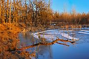 Ice on Seine River<br />Winnipeg<br />Manitoba<br />Canada