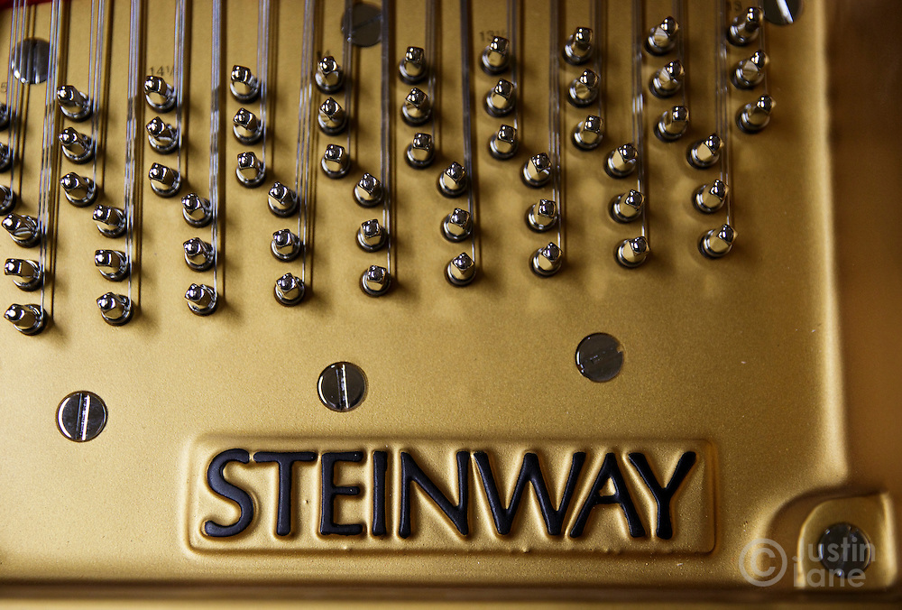 A detailed view of the inside of a Steinway piano at the Steinway and Sons piano production facility in Astoria, New York, USA, 04 April 2016. Each piano at the factory is built and assembled by hand, a process the company has been refining since being founded in 1853 in New York. In the late 1800s, there were hundreds of piano manufacturers in the United States, but Steinway and Sons is now one of only a few companies still making the instrument.