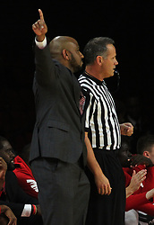 November 14, 2017 - Oxford, Ohio, U.S - Miami (Oh) Redhawks head coach Jack Owens  call a play on Tue Nov 14, 2017. During play with Wright State Raiders in Oxford,Ohio. As his team goes on the win in overtime play 73 to 67. (Credit Image: © Ernest Coleman via ZUMA Wire)