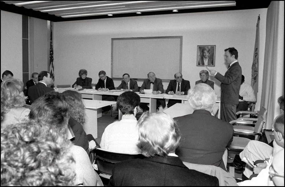 On January 22, 1990, Jim Provenzano of ACT UP NY testified at a hearing in Trenton, NJ regarding the State's proposal to link HIV testing to people's names, in order to more accurately count new cases. ACTUP argued for anonymous testing and recommended unique identifiers instead.