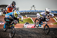 #77 (SAKAKIBARA Kai) AUS [DK, Shimano, Box, FLY] at Round 7 of the 2019 UCI BMX Supercross World Cup in Rock Hill, USA