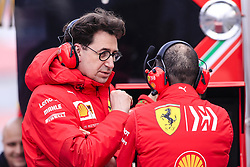 February 19, 2019 - Barcelona, Barcelona, Spain - Mattia Binotto Team Chief Scuderia Ferrari Mission Winnow SF90 portrait  during the Formula 1 2019 Pre-Season Tests at Circuit de Barcelona - Catalunya in Montmelo, Spain on February 19. (Credit Image: © Xavier Bonilla/NurPhoto via ZUMA Press)