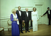 State Visit of King Juan Carlos and Queen Sophia of Spain to Ireland.<br /> 1986.<br /> 30.06.1986<br /> 06.30.1986.<br /> 30th June 1986.<br /> King Juan Carlos and Queen Sophia paid a state visit to Ireland at the invitation of President Hillery and the Irish people.<br /> The duration of the visit was three days.<br /> <br /> Picture taken back at Áras an Uachtaráin as the Royal Couple and the President and Mrs Hillery pose for the cameramen before the state banquet is held.