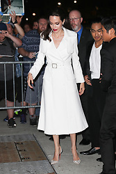 Angelina Jolie arrives with Maddox and Pax at the after party in NYC. 15 Sep 2017 Pictured: Angelina Jolie. Photo credit: ZapatA/MEGA TheMegaAgency.com +1 888 505 6342