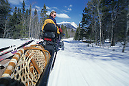 Snow mobiling in the Yukon