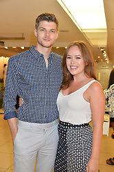 JIM CHAPMAN and TANYA BURR at the French Connection #NeverMissATrick Launch Party held at French Connection, 396 Oxford Street, London on 23rd July 2014.