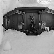 Cemetery in the snow