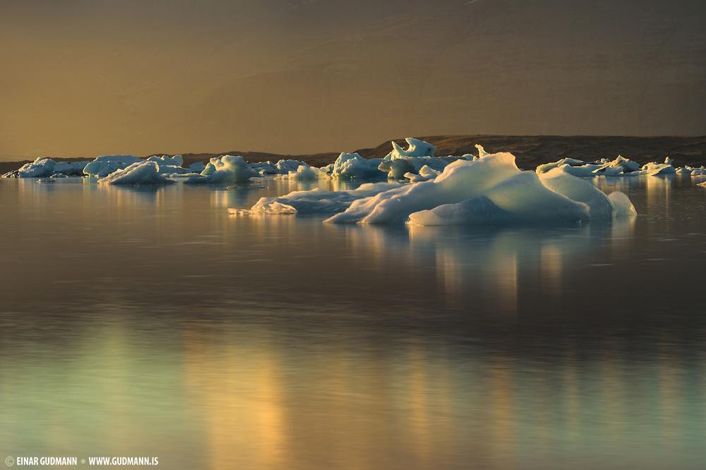 Jokulsarlon lagoon in southeast Iceland.
