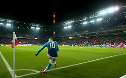 Jack Wilshere of Arsenal takes a corner at The RheinEnergieSTADION agains Cologne - Mandatory by-line: Robbie Stephenson/JMP - 23/11/2017 - FOOTBALL - RheinEnergieSTADION - Cologne,  - Cologne v Arsenal - UEFA Europa League Group H