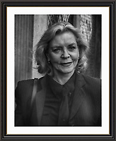 Lauren Bacall<br /> Pictured in London <br /> Museum-quality Archival signed Framed Photograph A3