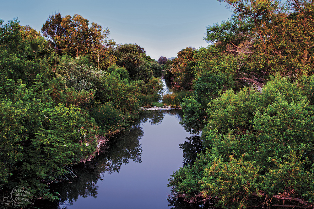 The Los Angeles River runs through the Sepulveda Basin Recreation Area,
