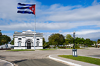 SANTIAGO DE CUBA, CUBA - CIRCA JANUARY 2020: Entrance of the Santa Ifigenia Cemetery in Santiago de Cuba. This is the resting place of a few notable Cubans, including Jose Marti and Fidel Castro among others.